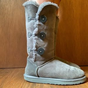 Grey button up UGGs